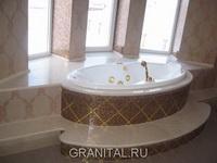 Столешница под ванну из мрамора Crema Nova
