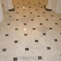 Пол мраморный Bianco Carrara