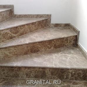 Лестница из мрамора Emperador
