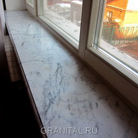 Подоконники Bianco Carrara